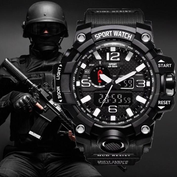 Foto Produk Jam Tangan Analog Pria Tentara Militer Reloj Led Digital dari Tuku Onlen Jam