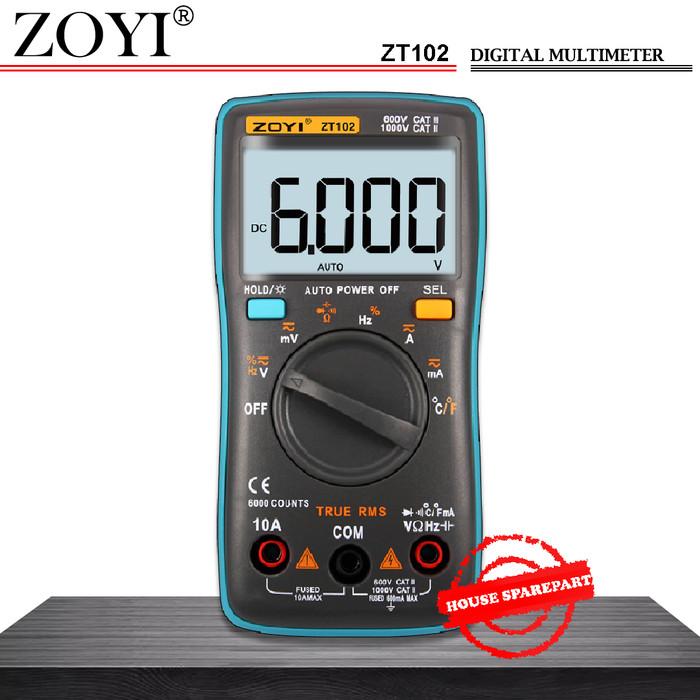 harga Zoyi zt102 true rms multimeter multitester digital avometer original Tokopedia.com