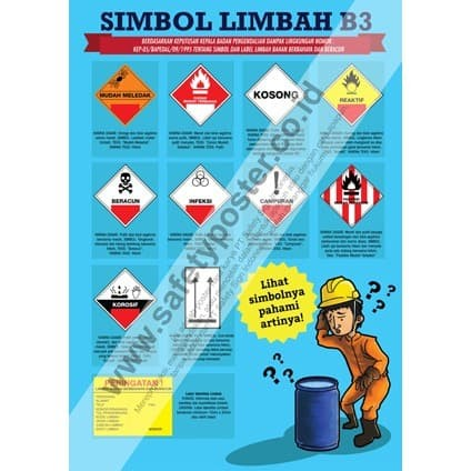 Jual Sp247 Poster K3 Safety A2 Simbol Limbah Bahan Kimia Berbahaya Kota Bandung Safety Sign Indonesia Tokopedia