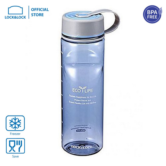 Foto Produk LOCK&LOCK Water Bottle Tritan Two Tone Botol Air Minum 800ml ABF604 - Biru Muda dari LOCK&LOCK Official