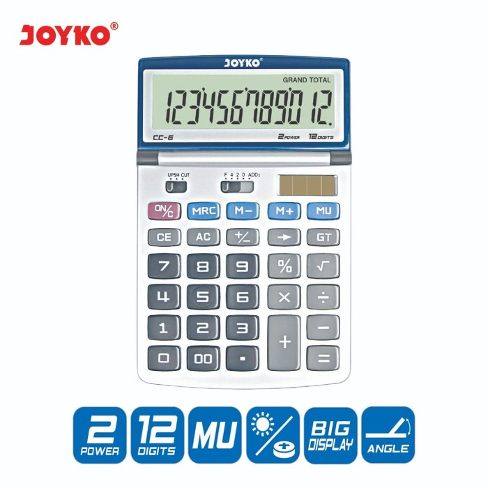 harga Calculator / kalkulator joyko cc-6 / 12 digits Tokopedia.com