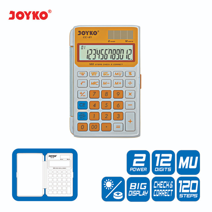 harga Calculator / kalkulator joyko cc-21 / 12 digits / check correct - kuning Tokopedia.com
