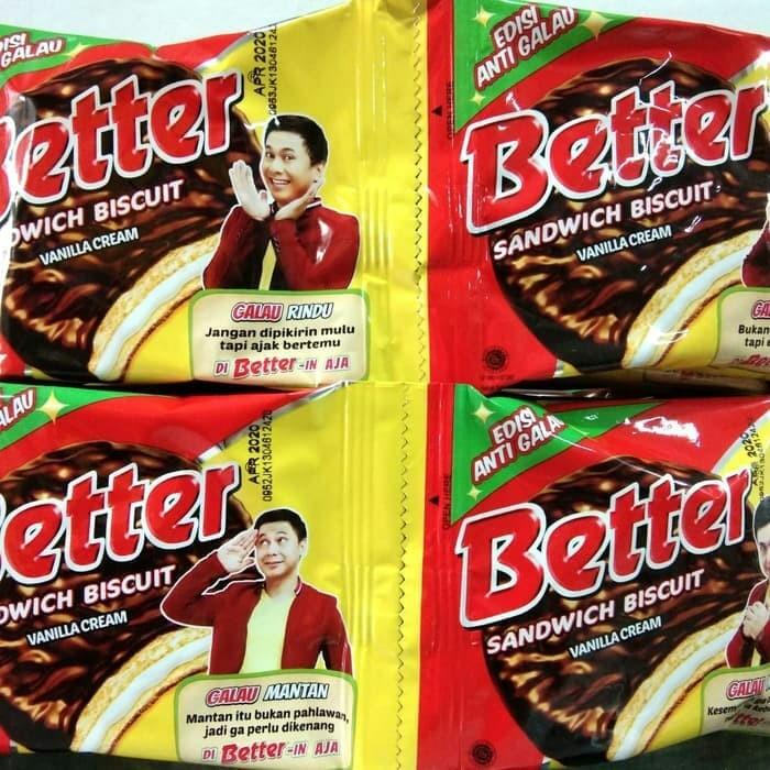 Biskuitkemasan: Jual Biskuit Sandwich BETTER 25 Gr