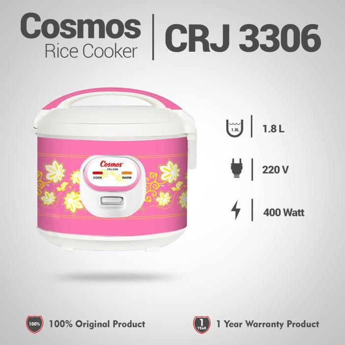 Foto Produk COSMOS Rice Cooker 1.8 Liter CRJ-3306 / Magic Com Pink dari Grosir PGS