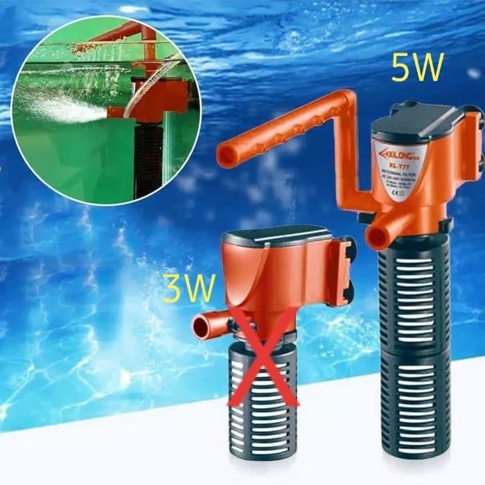 Foto Produk 🔃Mini 3 in 1 Aquarium Internal Filter Submersible Pump 220V dari innovtronic
