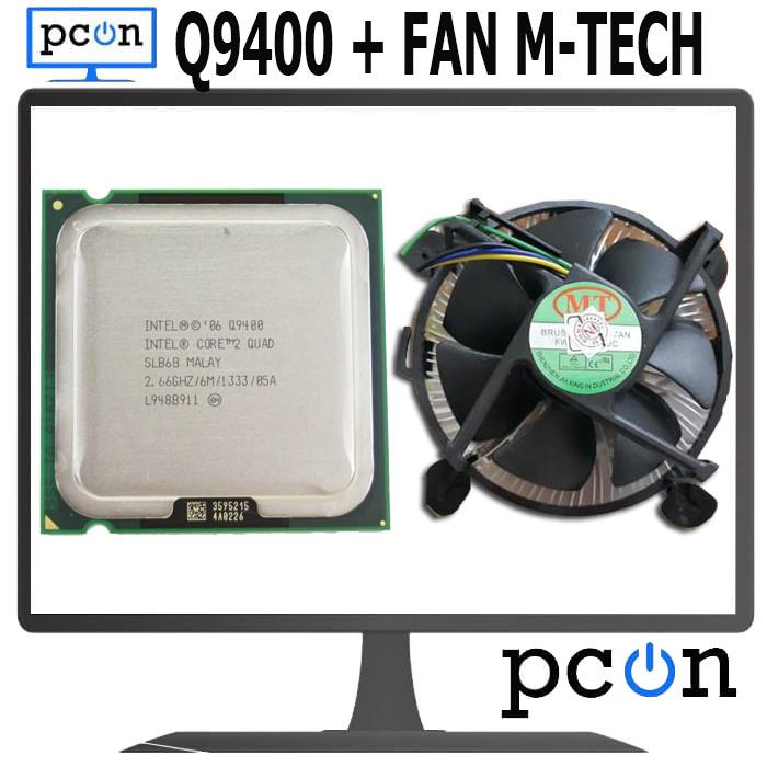 Foto Produk Processor Intel CorE2 Quad Processor Q9400 Set FAN LGA 775 M-TECH NEW dari PC ON COMPUTER