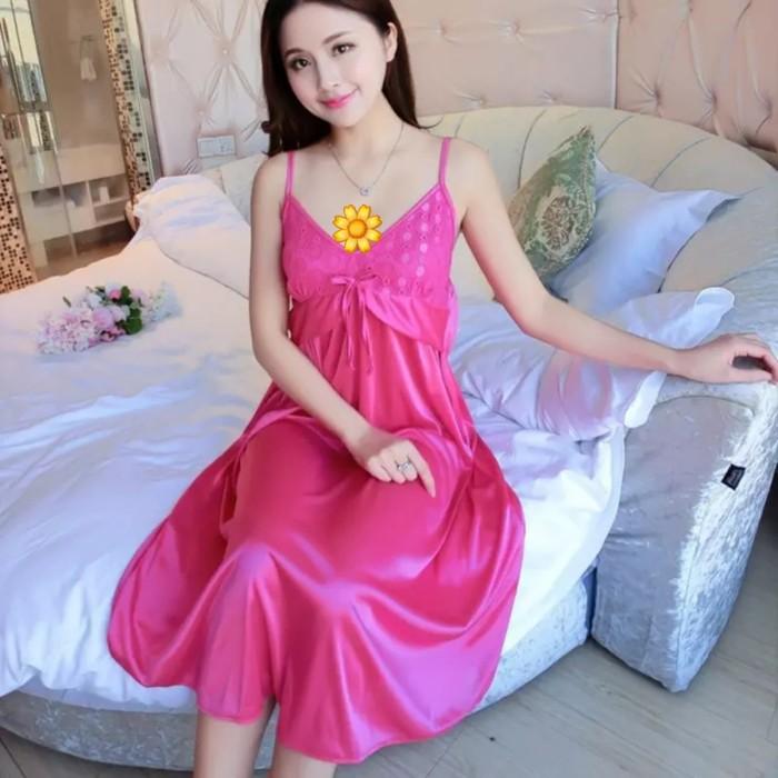 Jual Dress Mini Baju Pakaian Tidur Baju Import Lingerie Daster Seserahan - Pink Rose - Kab ...