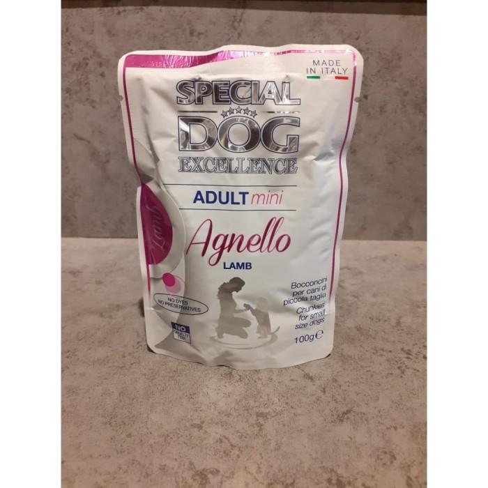 Foto Produk makanan anjing sachet spesial adult mini lamb 100gr dari Pets Supply