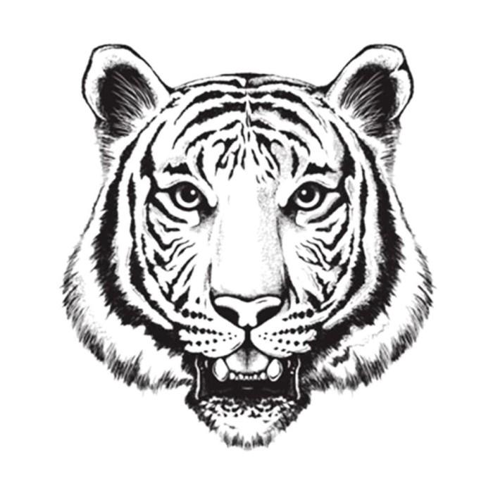 Foto Produk Lolitattoo Temporary Tattoo Tiger Head dari Lolitattoo Shop
