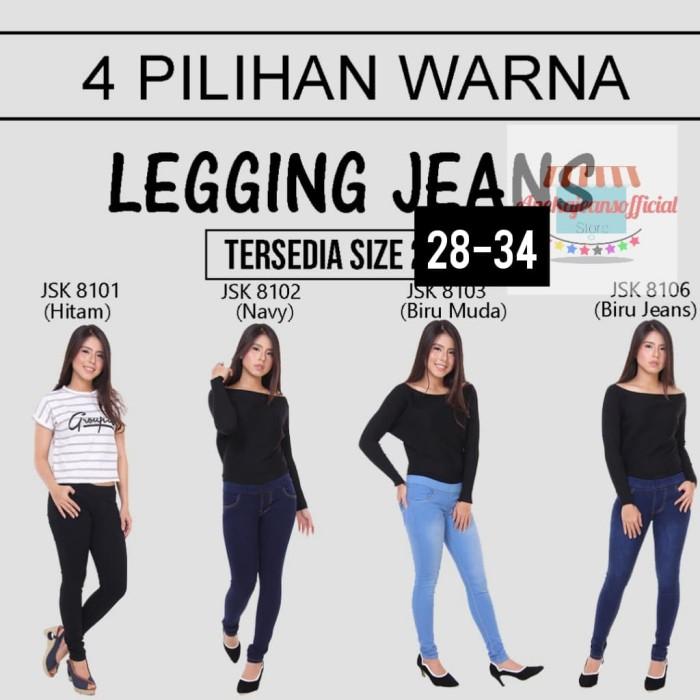 Jual 28 34 Celana Legging Jeans Wanita Pinggang Karet Melar Hitam 32 Jakarta Utara Anekajeansofficial Tokopedia