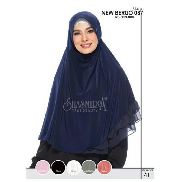 Jual Promo New Bergo 087 Shasmira Hijab Instan Spandek Sutra Ceruti Adem Kota Bekasi Damay Shoppu Tokopedia