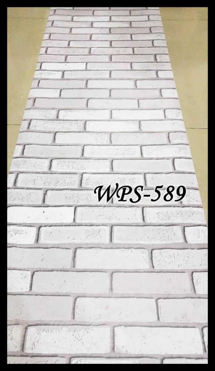 Jual WPS589 BATA PUTIH 3D WALLPAPER STICKER WAL PAPER DINDING Kota Surabaya Eyesss