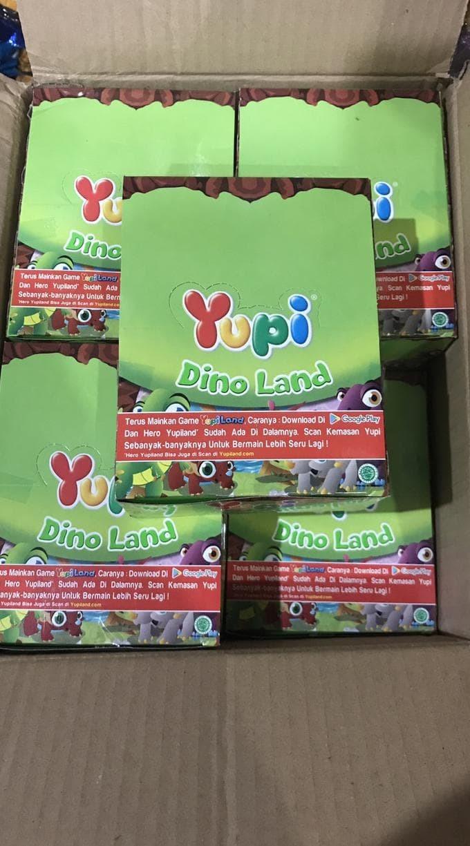 Jual Yupi Dino Land 1 Pak Box Dus 24 Pcs Jelly Hijau Jakarta Barat Abadishop01