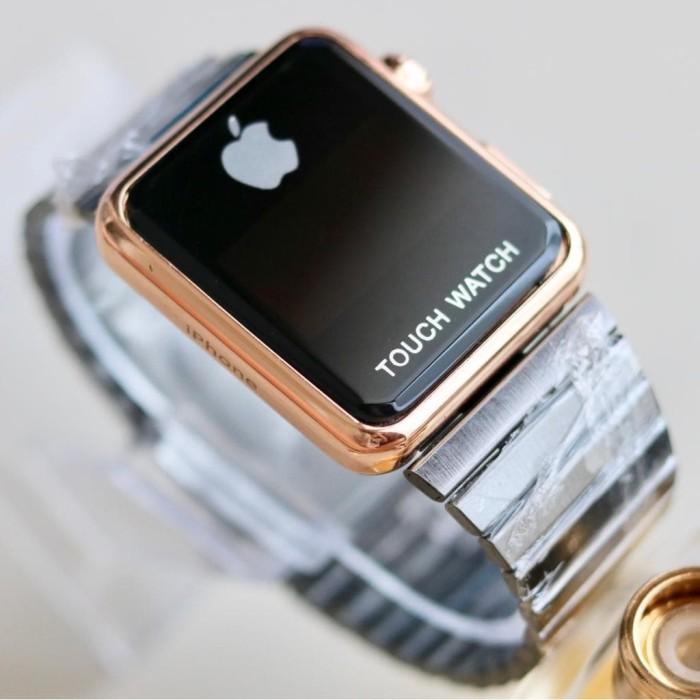 Foto Produk Jam Tangan Wanita Apple Touch Watch Iphone Digital Stainless - 4 Warna - Full Black dari Branded Watch 99