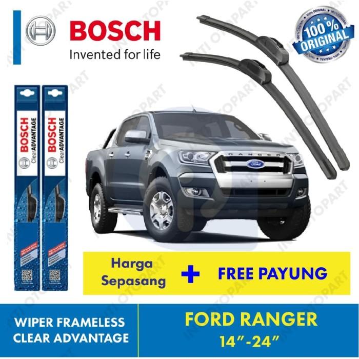 harga Wiper blade frameless ford ranger bosch ukuran 14 dan 24 inch Tokopedia.com