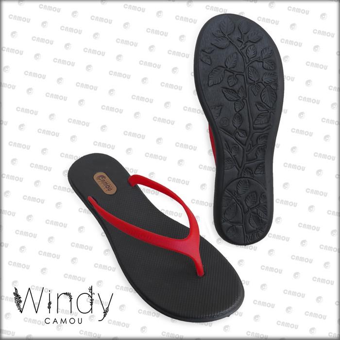Foto Produk [Official] Sandal Camou Wanita WINDY Scarlett - Merah, 36 dari Camou Sandal