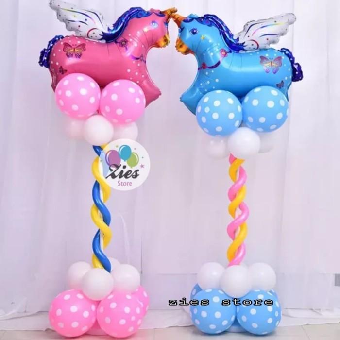Foto Produk standing tiang dekorasi + tatakan balon foil dan latex 90cm dari Zies store