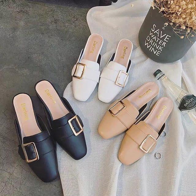 Foto Produk big belt flat mules small & big size (sepatu sandal selop jumbo) dari PrissyOShop