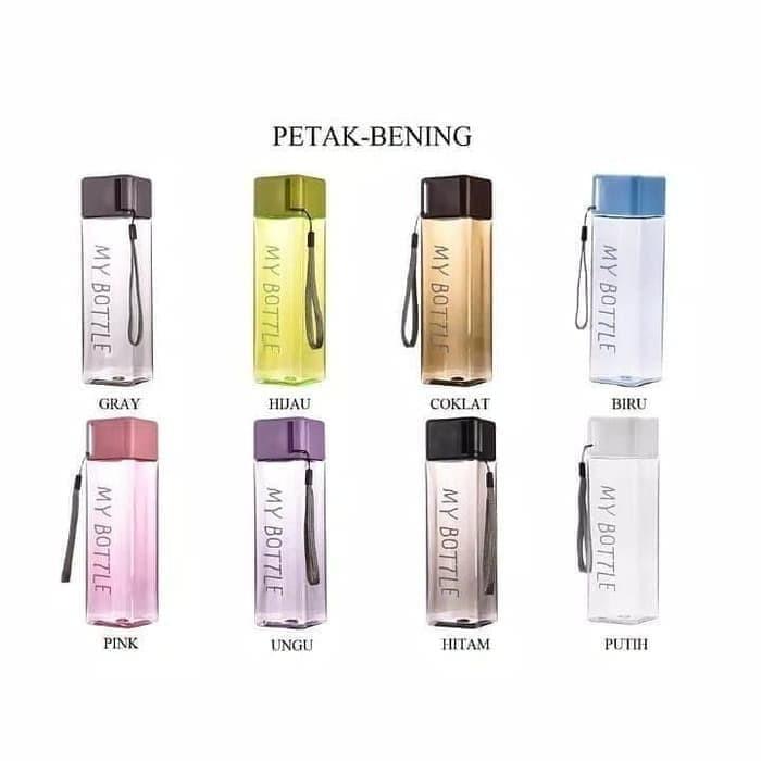 Foto Produk My Bottle Colour Persegi 500ML - Botol Minum Kotak Persegi 500ML dari PINZY Official Store