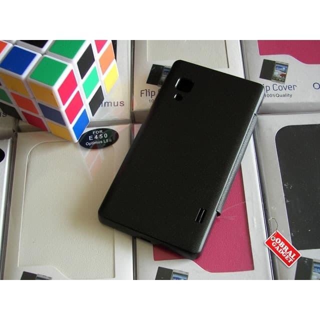 Foto Produk Flip Cover LG L5 II E450 Flipcover Leather Case Flipcase Casing - Hitam dari Obral Gadget