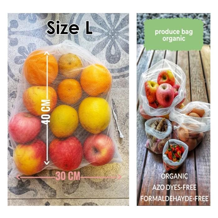 Foto Produk Organic Produce Bag Reusable Bag Tas Reusable Size L dari Toko Brukat