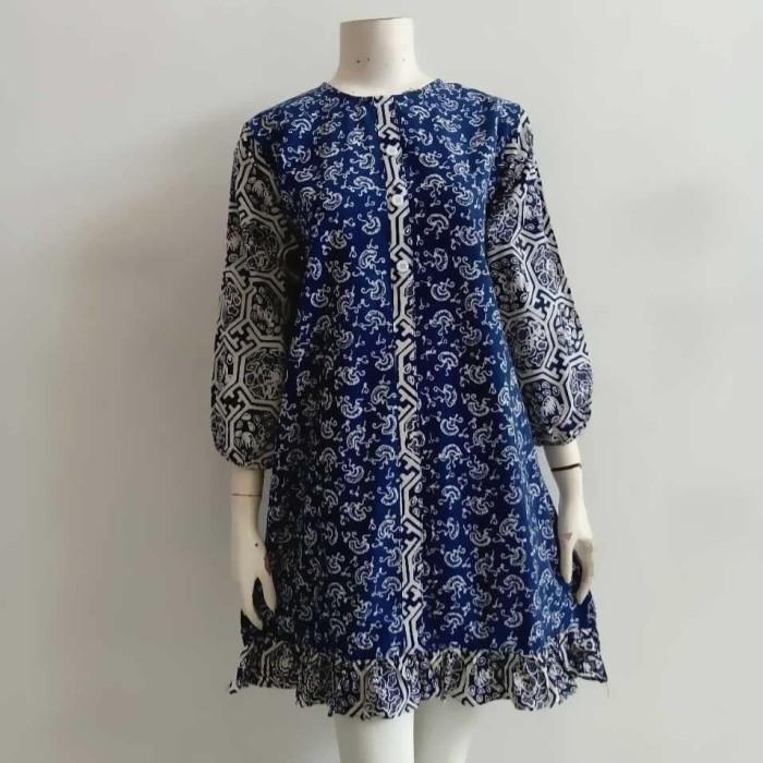Foto Produk dress batik cap biru hexza embrio dari KBS ARDAFA COLLECTION