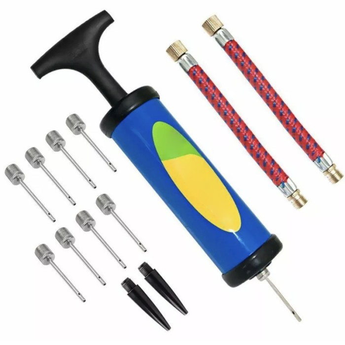 Hand Air Pump Inflator with Needle For Football Basketball Sport Soccer Ball