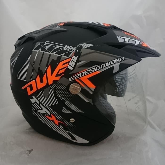Foto Produk Helm duke 2 kaca (double visor) Black dari Business Masa kini