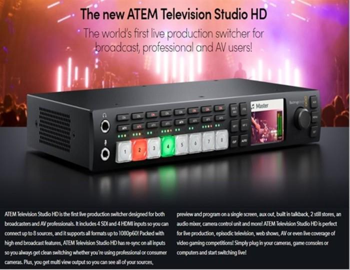 Jual Blackmagic Design Atem Television Studio Hd Sxza13547 Jakarta Utara Adel Li Tokopedia