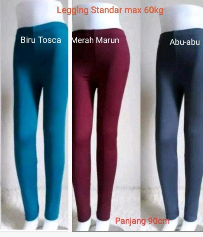 Jual Harga Grosir 3 Pcs Celana Legging Panjang Wanita Bahan Spandex Tebal Kab Kulon Progo Riska Aulia Tokopedia