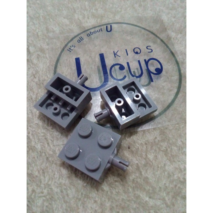 LEGO PART 4488 PLATE MODIFIED 2 X 2 WHEEL HOLDER X 8 PIECES