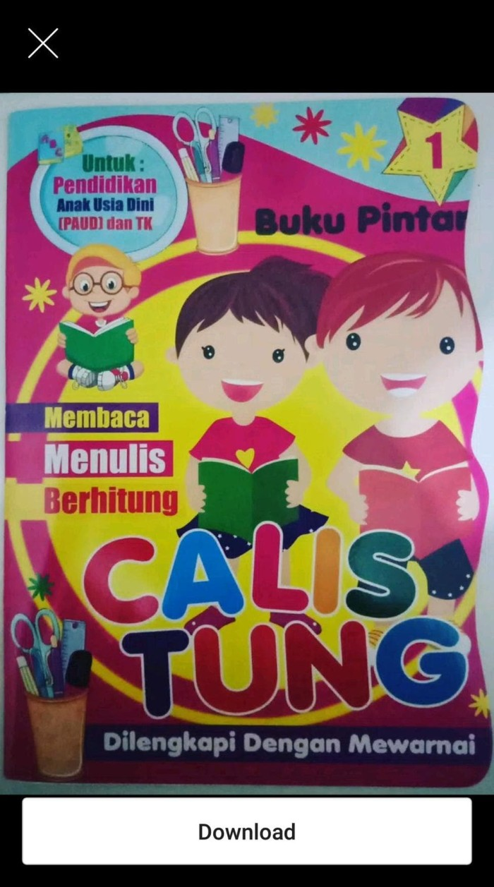 Jual Buku Pintar Calistung Untuk Anak Anak Jakarta Selatan Tobi 01