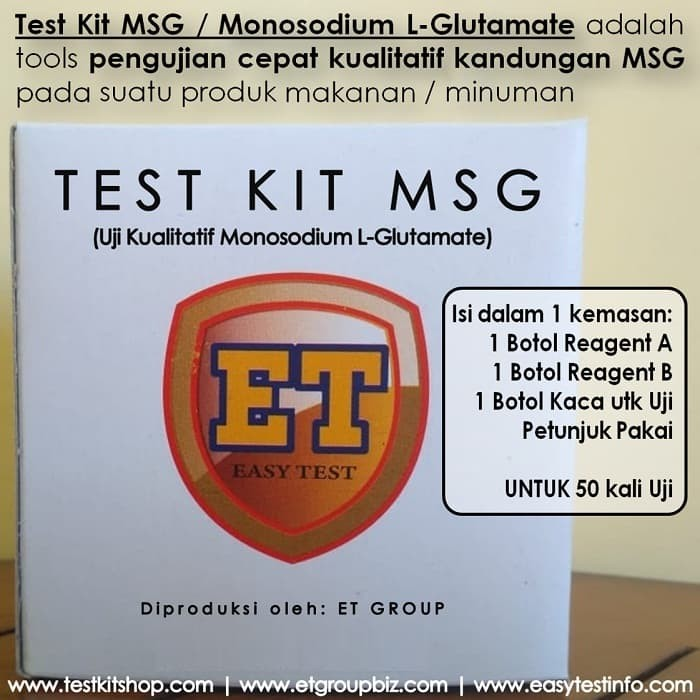 Foto Produk Test Kit MSG / Monosodium Glutamate dari easytest