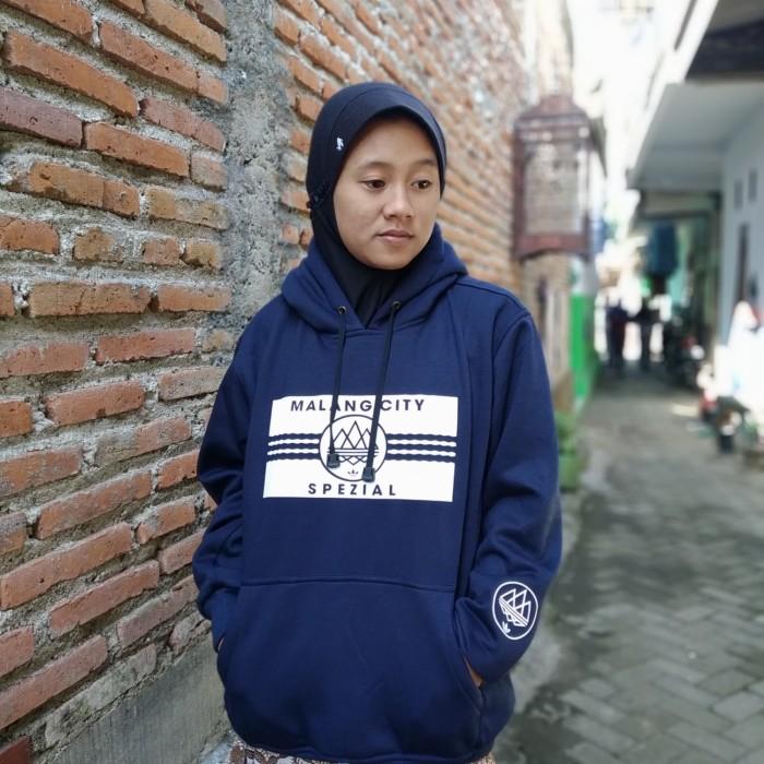 Jual Hoodie Malang City Spezial Kab Malang Blue Merch Tokopedia