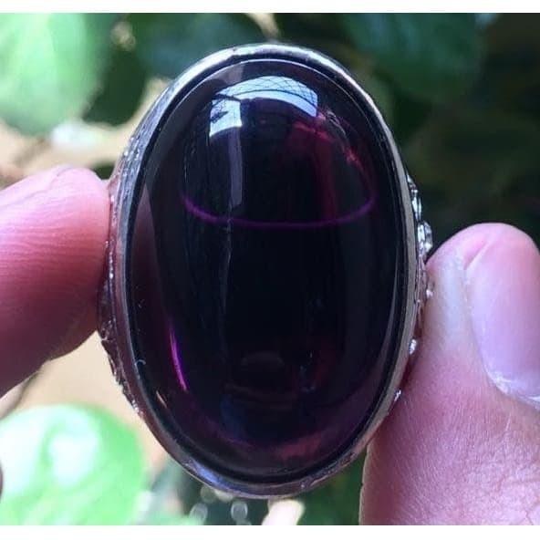 harga Cincin titanium tanam batu kecubung wulung ungu big size hq Tokopedia.com