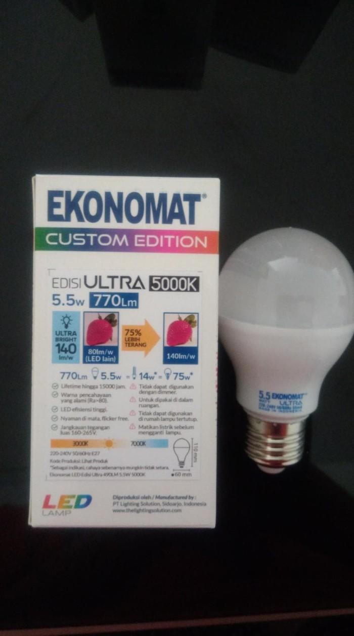 Jual Jual Murah LAMPU BOHLAM 5000 K 5 5w EKONOMAT ULTRA SPESIAL WARNA Kota Surabaya Memet Suremed