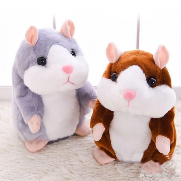 Foto Produk Talking Hamster Boneka Imut Bisa Bicara Peniru Suara dan Goyang - hamster, Cokelat dari yongzen shop