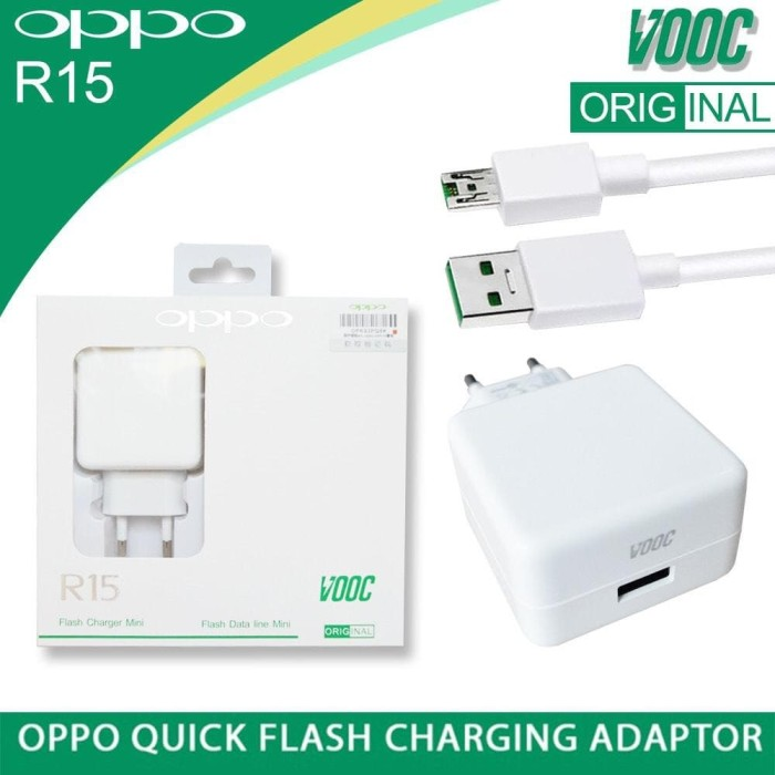 Foto Produk Charger Oppo F9 F7 A3S Find 7 Vooc Flash Charge Original Model R15 dari JV ACC
