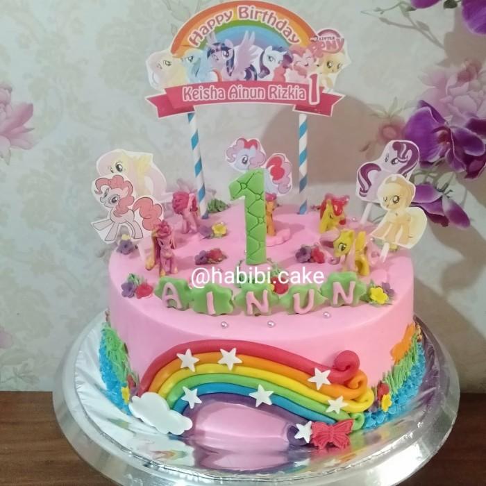 Jual Kue Ultah Little Pony Cake Ultah My Little Pony Kota Tangerang Selatan Baju Alya Shop Tokopedia