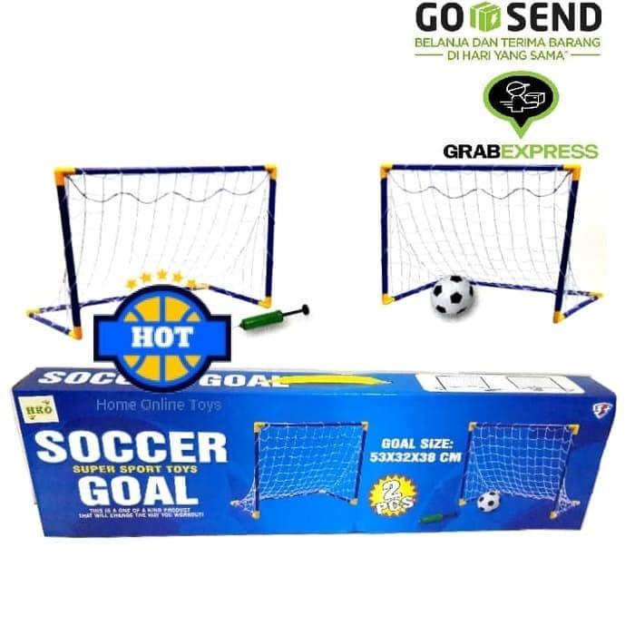 Foto Produk Gawang Sepak Bola isi 2 - Mainan Set Gawang Sepak Bola Anak isi 2pcs dari Putra-Minang
