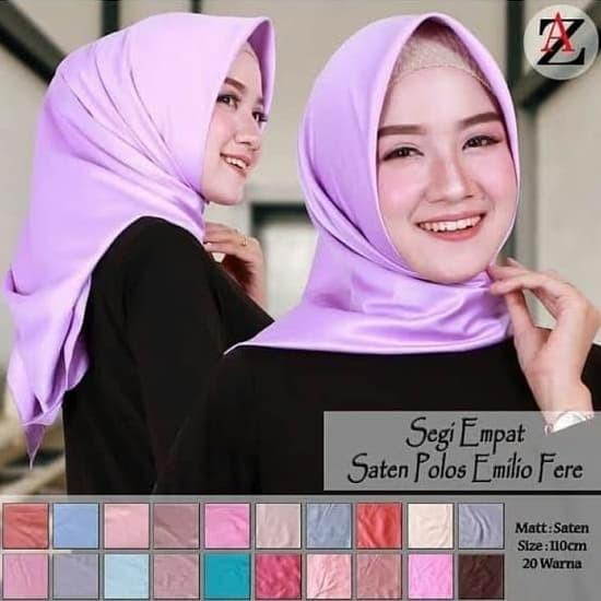 Foto Produk Satin Azara. Jilbab Segiempat Satin Polos. Segiempat Satin dari ZiyaAlia
