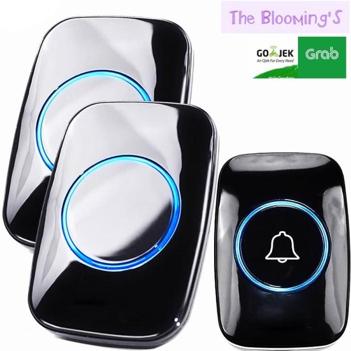 Foto Produk Bel pintu wireless Doorbells Waterproof 38 Nada 2 Receiver - Black dari thebloomings