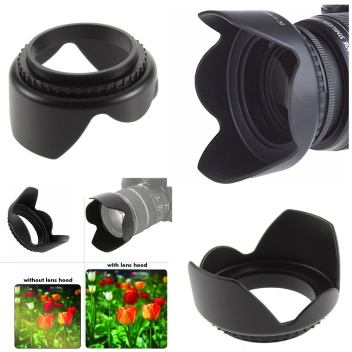 Cap Silver Photo Plus 43mm Metal Lens Hood