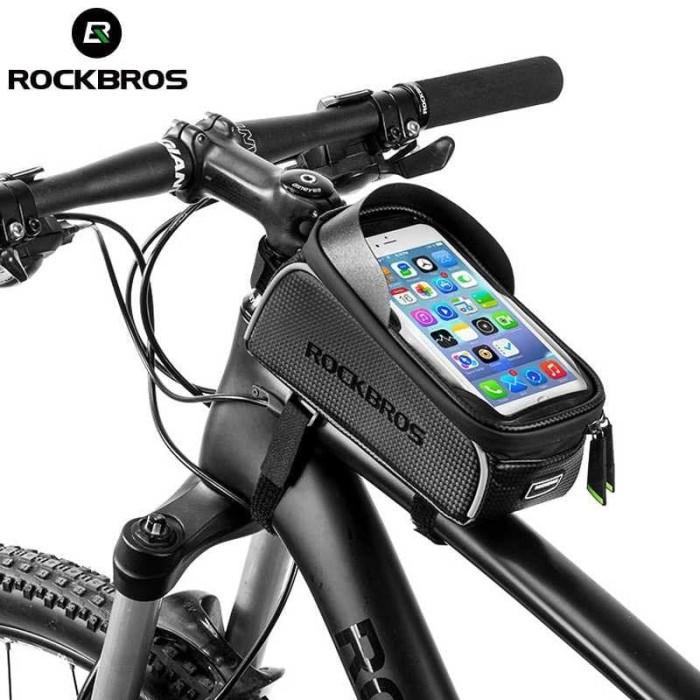 Foto Produk Rockbros Tas Sepeda Rangka Frame Bag Waterproof 6.0 inch 0171 dari dbidzi