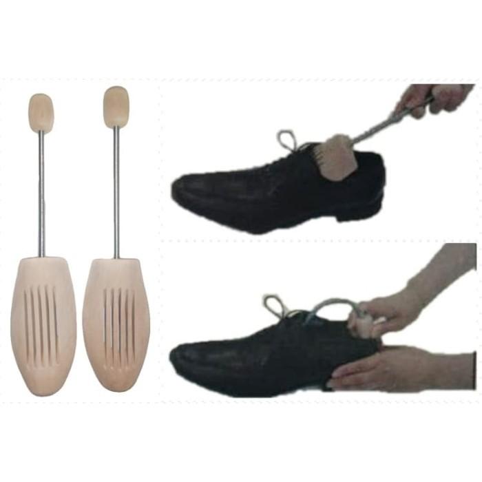 Ganjalan sepatu kayu pria shoe tree wooden shoe tree uk 38 - 42