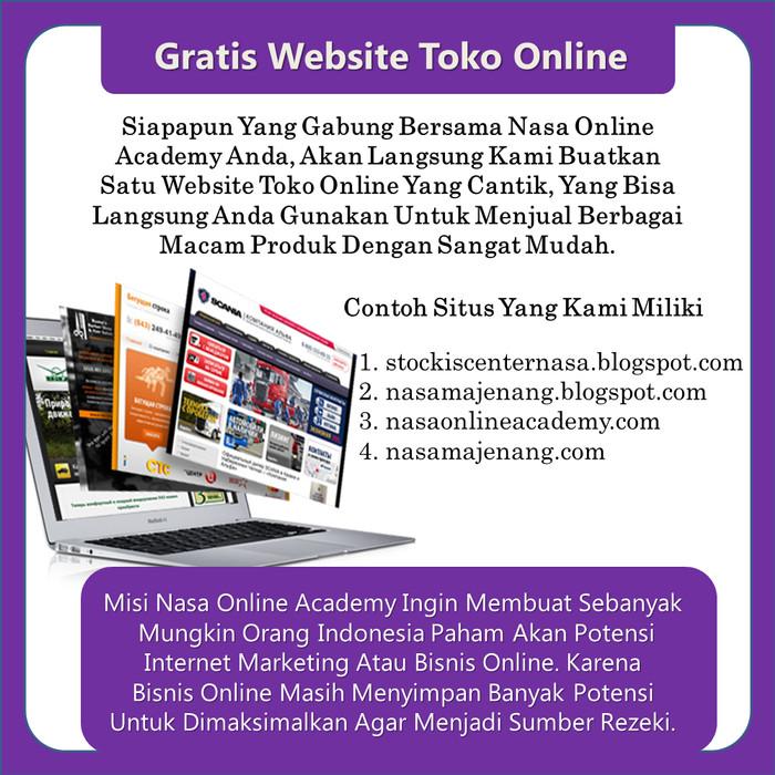 Jual Daftar Member Nasa Dapat Website Toko Online Cantik Senilai 400 Rb Kab Cilacap Stockist Nasa Majenang Tokopedia