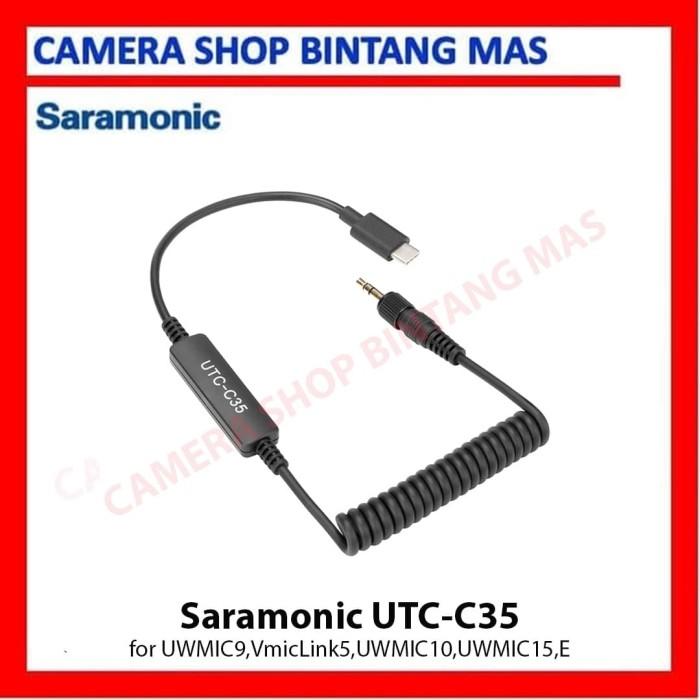 Foto Produk Saramonic Locking TRS 3.5mm Male to USB-C Cable (UTC-C35) dari Camera Shop Bintang Mas