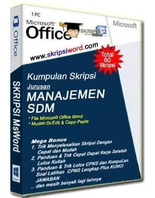Jual Hot Sale Kumpulan Skripsi Jurusan Manajemen Sdm Dalam File