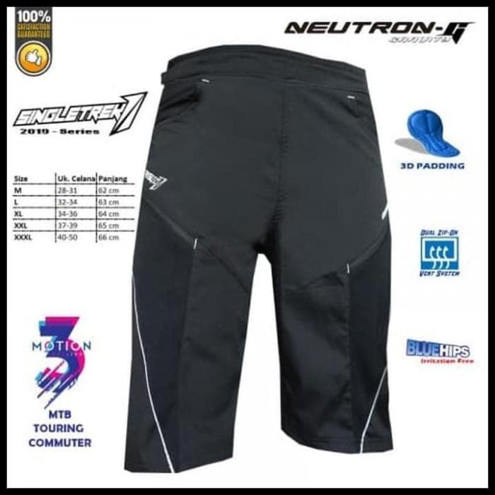 Foto Produk New Items Celana Sepeda Str Neutron-G   Size L - Hitam, M Mewah Dan dari Elyawati Retail