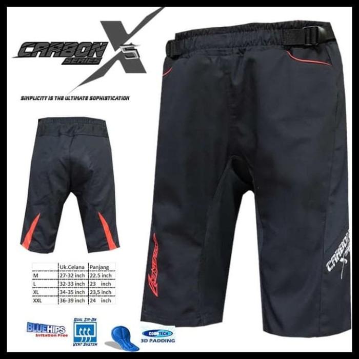 Foto Produk Gebyar Promo Celana Sepeda Str Carbon X2   Size Xl   Dengan Padding 3D dari Elyawati Retail